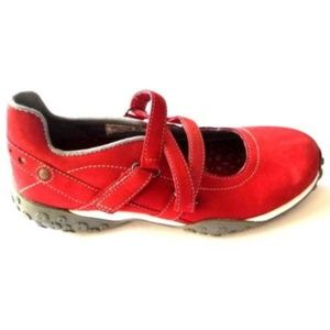 Timberland Smart Flats Womens Leather Walking Red